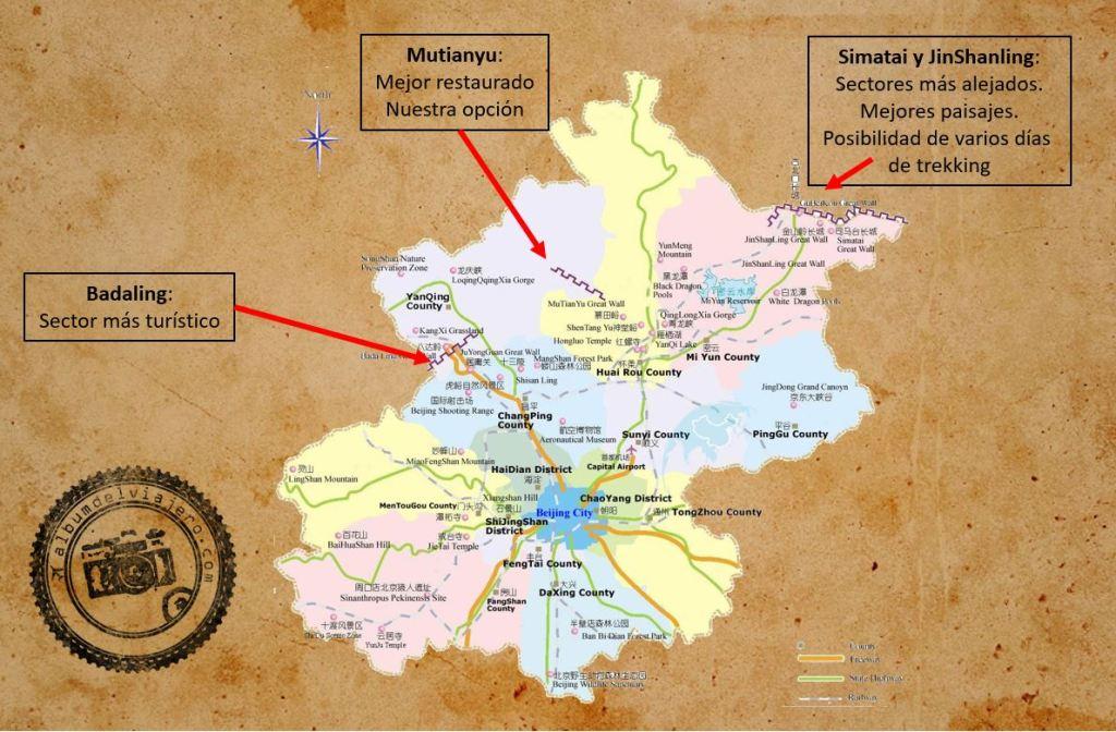 Muralla China Sectores de visita