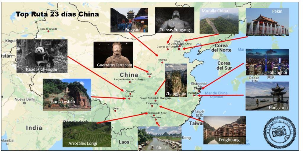 Top destinos China