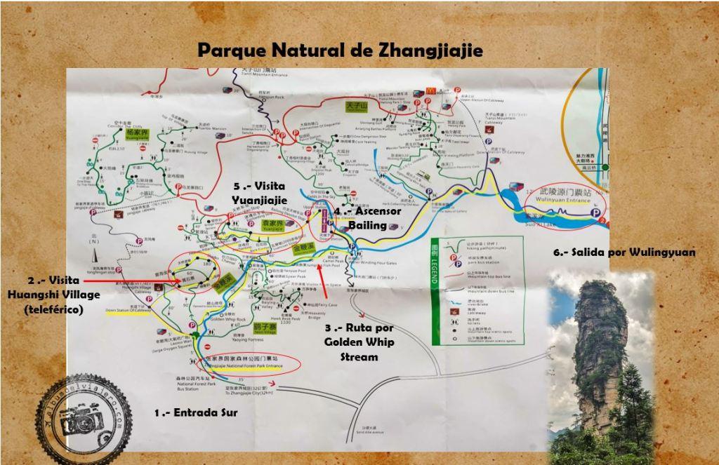 Ruta de un día Parque Natural de Zhangjiajie