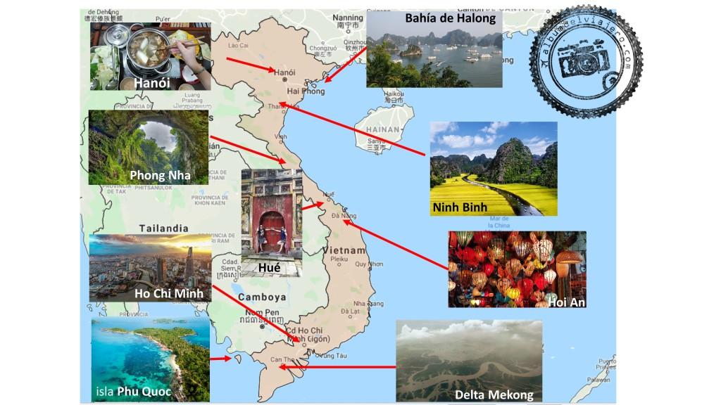 Top destinos Vietnam